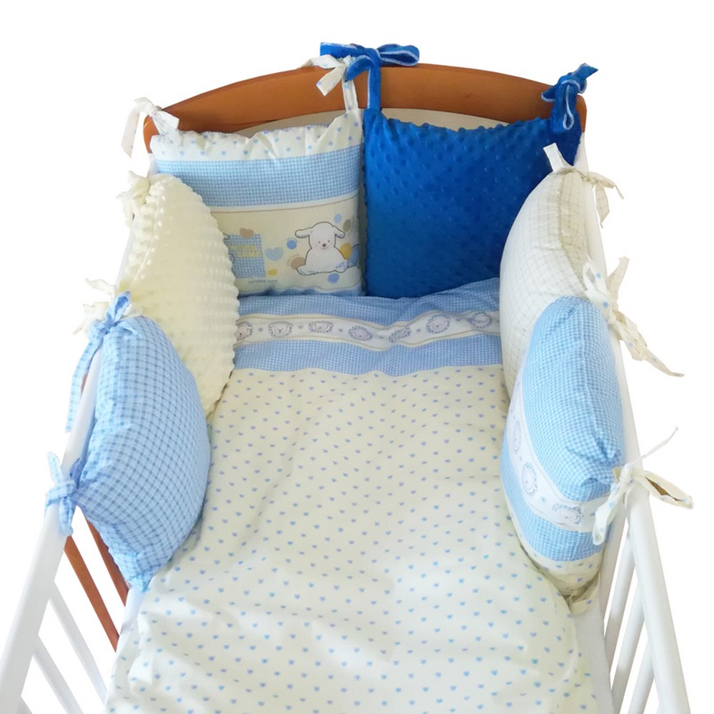 Ochraniacz do łóżeczka z poduszek – Twojego dziecka